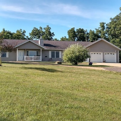 Green County Single Family Home For Sale: N5446 Skinner Hollow Rd