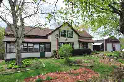 Jefferson County Single Family Home For Sale: N8280 Springer Rd