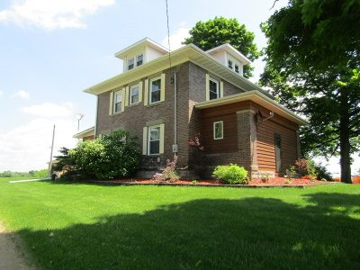 Green County Single Family Home For Sale: N2120 County Road K