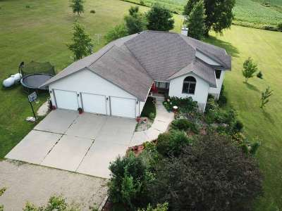 Green County Single Family Home For Sale: N8537 Smith Rd