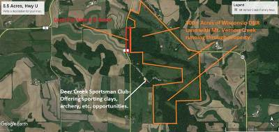 Verona Residential Lots & Land For Sale: 5.5 Ac County Road U