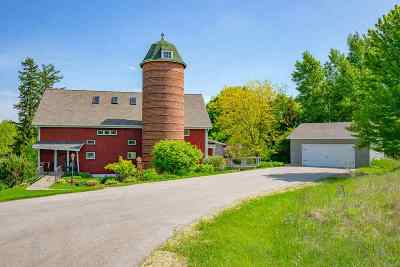 Green County Single Family Home For Sale: W6024 Meadow Valley Rd