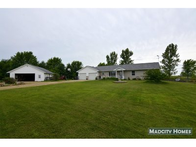 Rock County Single Family Home For Sale: 10926 W County Road A