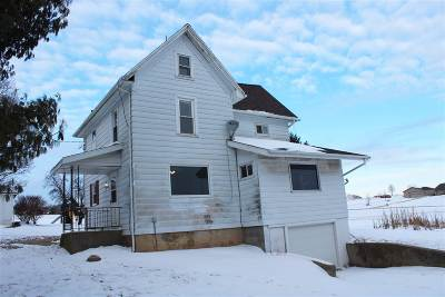 Green County Single Family Home For Sale: W4798 Burkhalter Rd