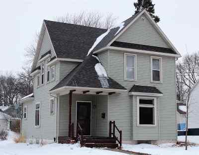 Lancaster WI Single Family Home For Sale: $75,000