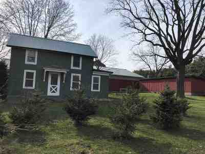 Rock County Single Family Home For Sale: 5001 N Lima Center Rd