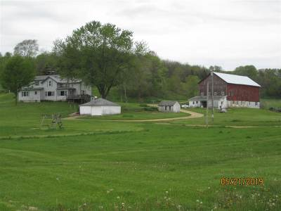 Green County Single Family Home For Sale: N3084 Loop Rd