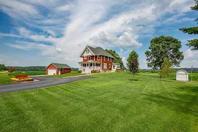 Green County Single Family Home For Sale: N9410 County Road O