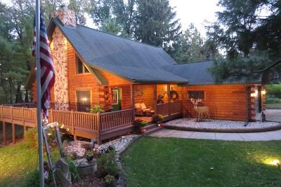 Jefferson County Single Family Home For Sale: W2655 Rock River Paradise
