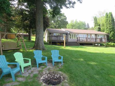 Green Lake Single Family Home For Sale: W1280 Spring Grove Rd Road