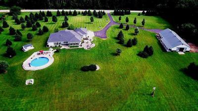 Green Lake County Single Family Home For Sale: W1077 Brooklyn J Rd Road