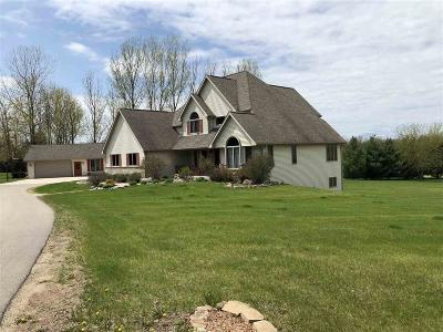 Fond du Lac County Single Family Home For Sale: N2086 North River Road Road