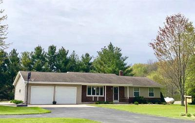 Fond du Lac County Single Family Home For Sale: W2038 Hwy Wh