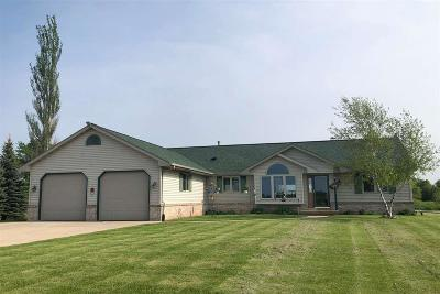 Fond du Lac County Single Family Home For Sale: W6464 East Lone Elm Road Road
