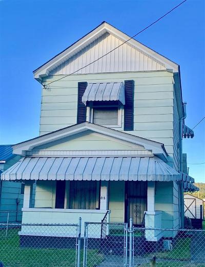 Kenova Single Family Home For Sale: 818 12th Street