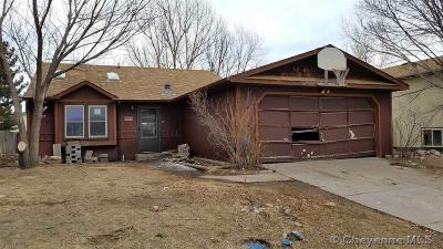 Cheyenne WY Single Family Home For Sale: $124,800