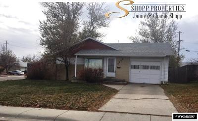 Casper WY Single Family Home For Sale: $168,500