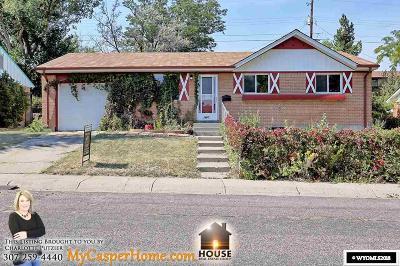 Casper WY Single Family Home New: $199,900