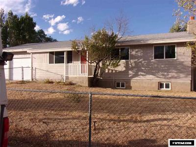 Green River Single Family Home For Sale: 1585 Wyoming
