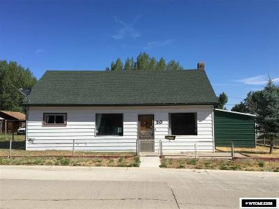 Diamondville Single Family Home For Sale: 20 Frontier St