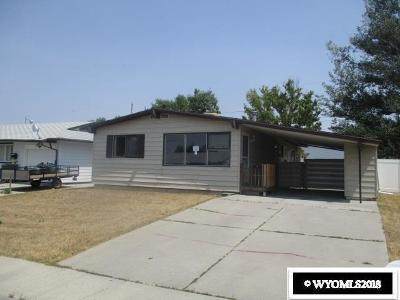 Rock Springs Single Family Home For Sale: 1251 Lincoln