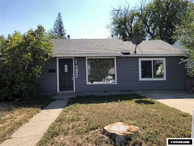 Casper WY Single Family Home For Sale: $137,000