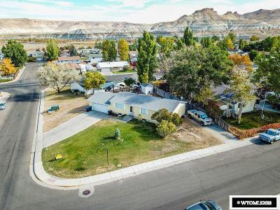 Green River Single Family Home For Sale: 1710 Wyoming
