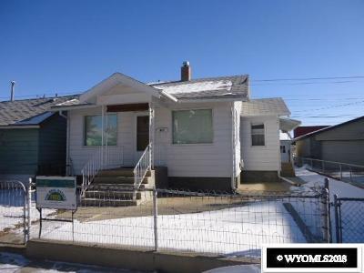 Rock Springs Single Family Home New: 807 Center