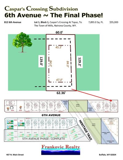 Mills Residential Lots & Land For Sale: 812 6th