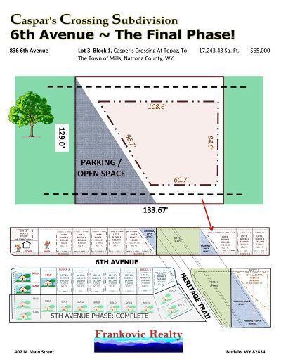 Mills Residential Lots & Land For Sale: 836 6th