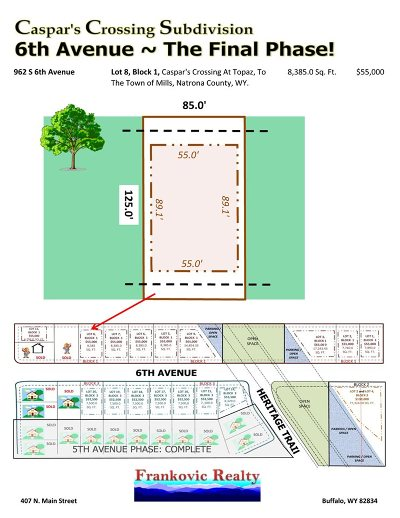 Mills Residential Lots & Land For Sale: 962 6th