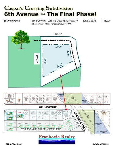Mills Residential Lots & Land For Sale: 891 6th