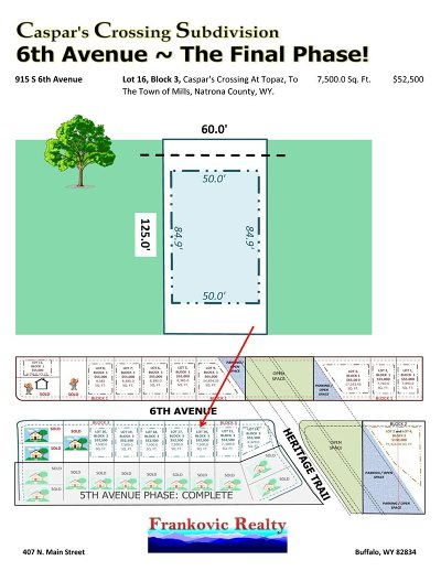 Mills Residential Lots & Land For Sale: 915 6th