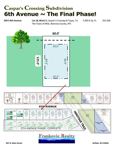 Mills Residential Lots & Land For Sale: 939 6th