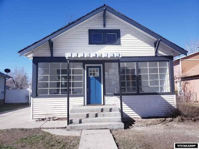 Evanston WY Single Family Home For Sale: $120,000