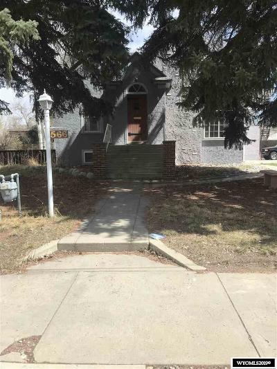 Lander Single Family Home For Sale: 566 N 3rd