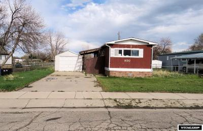 Lander Single Family Home Pending-Continue To Show: 950 Riverview