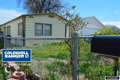 Casper Single Family Home Temporarily Off Market: 842 N Grant