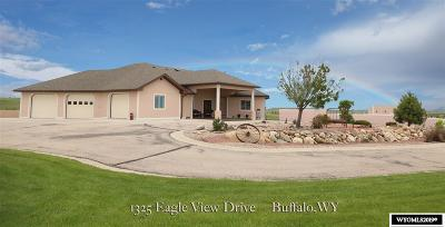Buffalo WY Single Family Home New: $1,100,000