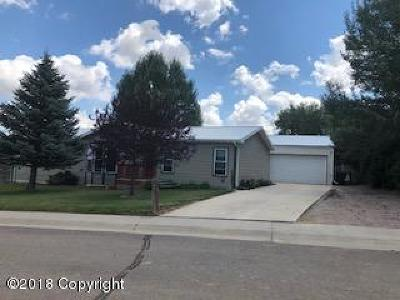 Wright WY Single Family Home For Sale: $149,900