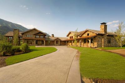 Teton Village Single Family Home For Sale: 7165 Jensen Canyon Rd