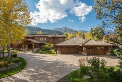 Jackson, Teton Village, Wilson Single Family Home For Sale: 3345 N Teton Pines Dr