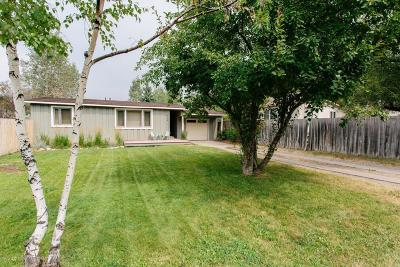 Jackson WY Single Family Home For Sale: $1,100,000