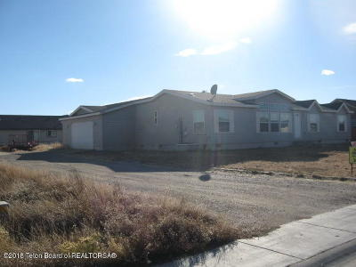 Big Piney WY Single Family Home For Sale: $195,000