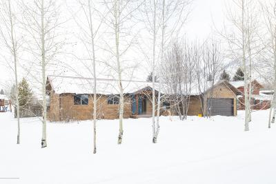 Jackson WY Single Family Home For Sale: $815,000
