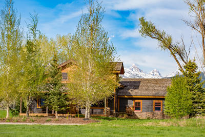 Teton Village, Tetonia, Driggs, Jackson, Victor, Swan Valley, Alta Single Family Home For Sale: 6093 Fox Meadows Dr