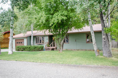 Jackson WY Single Family Home For Sale: $949,000
