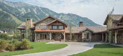 Teton Village Single Family Home For Sale: 7165 Jensen Canyon Rd