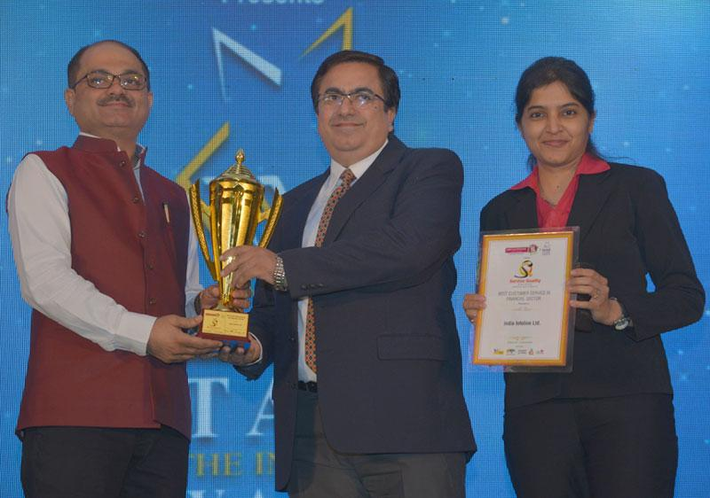 Best Customer Service in Financial Sector by World Quality Congress, 2016.