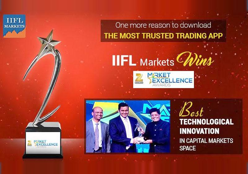 IIFL Markets wins Best Technological Innovation in Capital Markets Space at Zee Business Market Excellence Awards - 2016